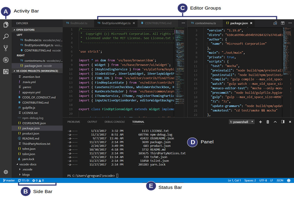 VS Code Interface