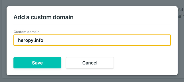 Netlify Add custom domain naming