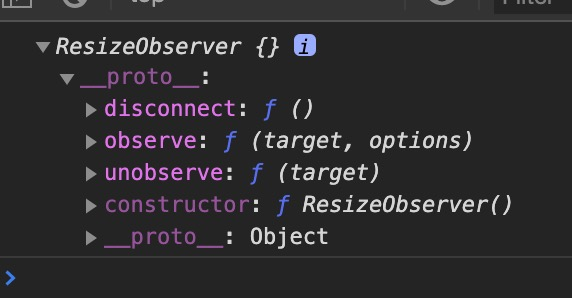resize observer entry object