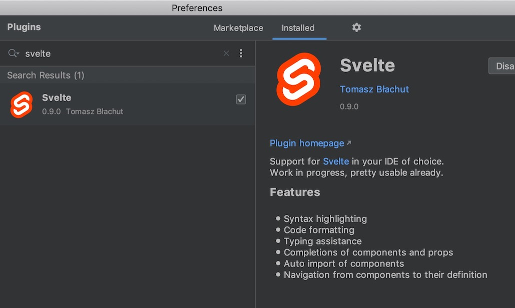 Svelte for Webstorm