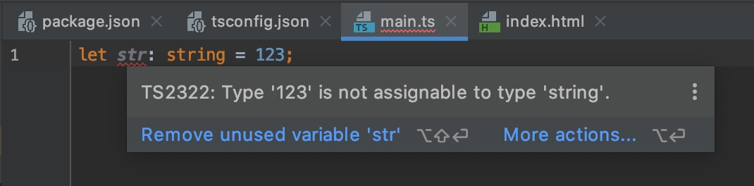 WebStorm Error